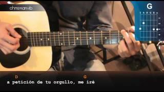 """Cómo tocar """"Tatuajes"""" en Guitarra Acustica (HD) Acordes - Christianvib"""