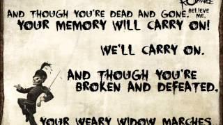 mcr black parade lyrics