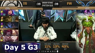 Invictus Gaming vs Flash Wolves | LoL MSI 2019 Group Stage Day 5 | IG vs FW