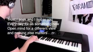 Metallica - Nothing Else Matters (Piano Instrumental & Lyrics) By JP