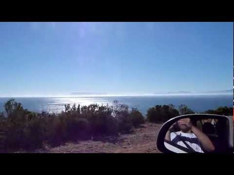Driving along Faure Marine Drive (R44) South-Africa …