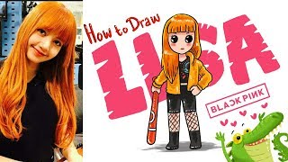 Download Thumbnail For Very Easy How To Draw Lisa Black Pink Kpop