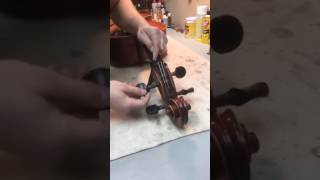 Ronald Sachs Violins - Restringing a Cello