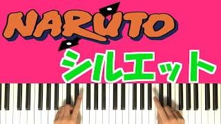 Naruto: Shippuden OP16 - Silhouette シルエット 【初心者 ピアノ講座】Piano Tutorial