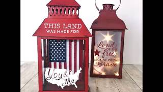 Easy Americana Lanterns How To from Craft Warehouse