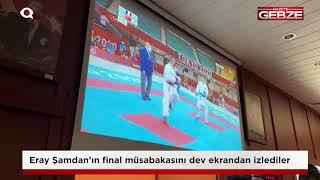 Eray Şamdan'ın final müsabakasını dev ekrandan izlediler