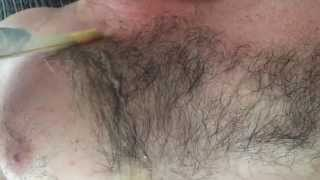 Waxing Hairy Chest Part 5 of 8 HD