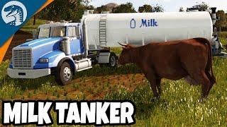 BIG RIG MILK TANKER HAUL  | Rappack Farms #46 | Farming Simulator 17 Multiplayer Gameplay