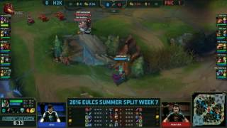 H2K vs FNC - Braum Flash EU 2016 Summer Split