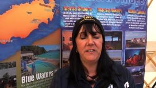 Lydia from Oonasdivers says hello from Scubafest Cornwall 2014
