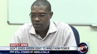 GOV'T GIVES GREEN LIGHT TO WIND FARM POWER