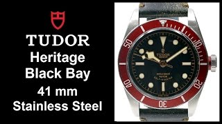 Tudor Heritage Black Bay (Black Dial, Red Bezel, Leather) 79220R - UNBOXING & REVIEW