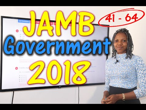 JAMB CBT Government 2018 Past Questions 41 - 64