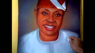 davido father deji adeleke portrait painting by Ayeola Ayodeji