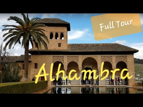 Alhambra Walking Tour - Amazing Islamic Palace, Granada Andalusia Spain - YouTube