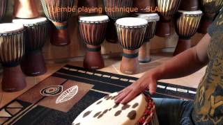 SLAP ➽ Djembe Spielen Lernen - Playing Techniques