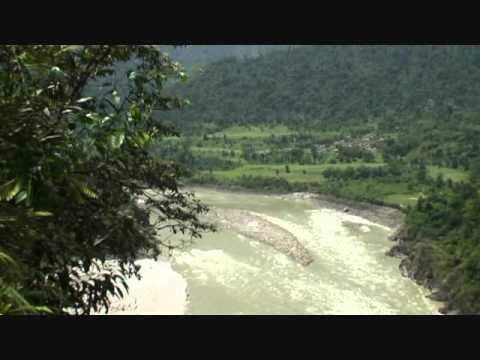 MEGA  DAM  SITE  ON MIGHTY  YARLUNG TSANGPO  RIVER   IN  ARUNACHAL , TIBET  REGION