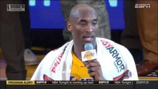 Kobe Bryant's Final Game Farewell Speech