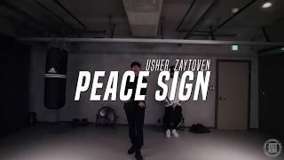 Taehoon Choreo Class | Peace Sign - Usher, Zaytoven | Justjerk Dance Academy