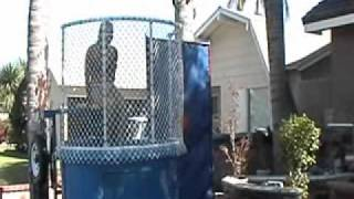 Girl gets dunked on Dunk Tank FUNNY | Jump O'Rama