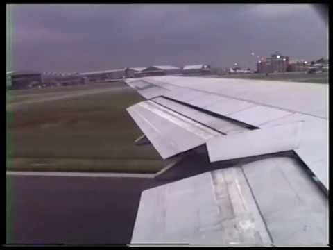 KLM Boeing 747-300 Jumbo jet Takeoff from Jan Smuts airport Johannesburg