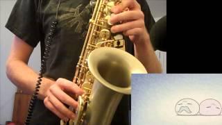 Dango Daikazoku - Saxophone (Clannad) w/ Sheet Music