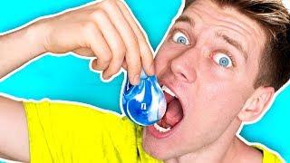 DIY Edible Water Bottle YOU CAN EAT!!!!! *NO PLASTIC* Learn How To Make The Best DIY Liquid Food