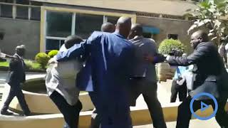 Babu Owino and Jaguar in fist fight at parliament