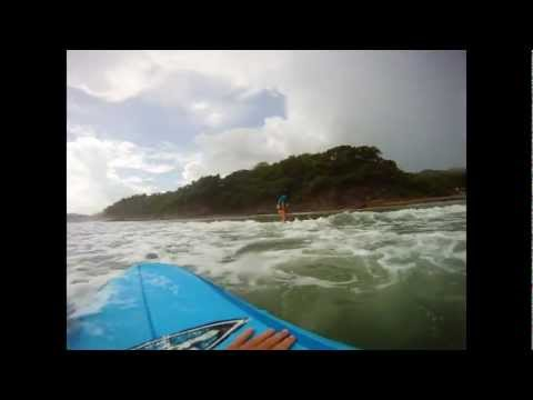 Learning How to Surf in Nicaragua GoPro HD