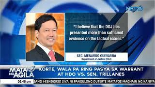 Korte, wala pa ring pasya sa warrant at HDO vs Sen. Trillanes