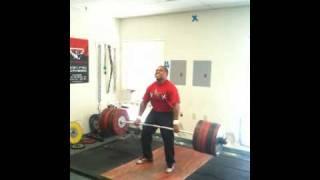 275kg / 606 pound  Raw Deadlift