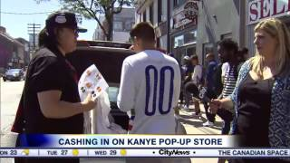 Video: Cashing in on Kanye pop-up shop