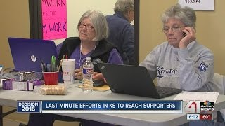 Last-minute efforts in KS to reach supporters