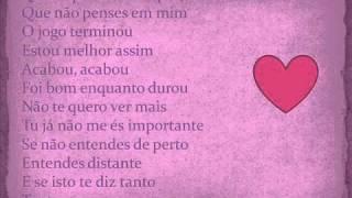 Ntk & Maria Ines & R.Fonseca- Nao Me culpes (letra)