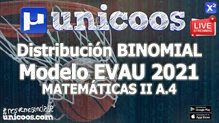 Imagen en miniatura para LIVE!!! Modelo EvAU 2021 - Matemáticas II 03 - Ejercicio A.4 - Distribución binomial
