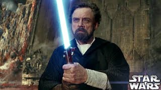 Why Luke Uses The Blue Lightsaber Instead of the Green Explained By Rian Johnson – Star Wars