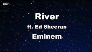 River ft. Ed Sheeran - Eminem Karaoke 【No Guide Melody】 Instrumental