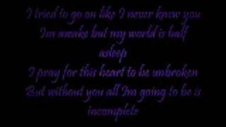 Incomplete - Backstreet Boys (w/ Lyrics)