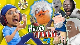 HELLO GRANNY in our HOUSE!!! FGTEEV ❤️'s GRANNY BABE! Hello Neighbor Granny's House Mod Game #2
