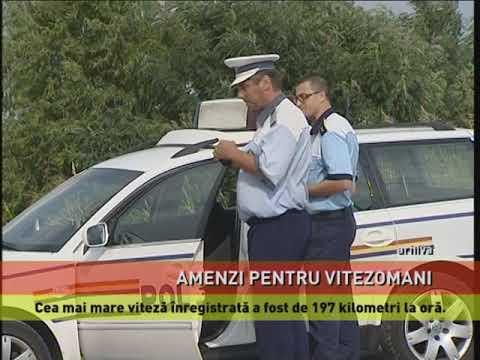 Poliţist beat, la volan