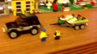 Lego city SUV with watercraft review set 60058