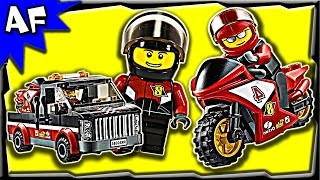 Lego City RACING BIKE Transporter 60084 Stop Motion Build Review