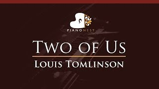 Louis Tomlinson - Two of Us - HIGHER Key (Piano Karaoke / Sing Along)