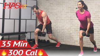 35 Min Strength Training Workout: Weight Training Full Body Dumbbell Workout at Home for Women & Men