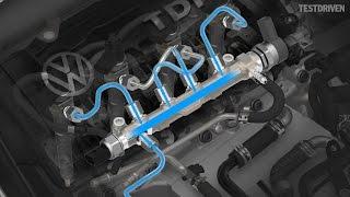 Volkswagen TDI engine animation
