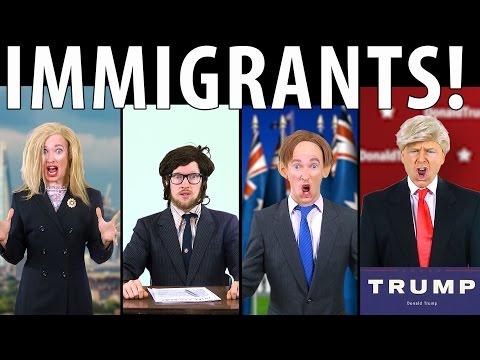 IMMIGRANTS! Feat. Donald Trump & Tony Abbott [RAP NEWS 34]