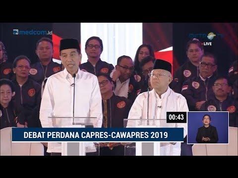 Download Video Debat Pilpres 2019 Part 2 - Jokowi Skak Prabowo Soal Penegakan Hukum
