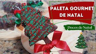 """PALETA GOURMET """"ÁRVORE DE NATAL"""" – DOCES DE NATAL"""
