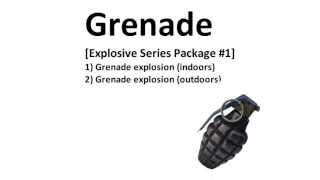 Royalty Free - Grenade - Sound Effects - HQ