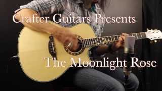 ML-Rose Moonlight Rose Grand Auditorium By Crafter Guitars with Damon Johnson
